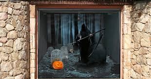 garage door halloween decorations these spooky garage door stickers are what halloween is all about
