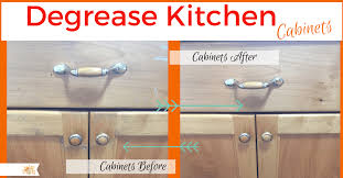 how do you degrease cabinets degrease