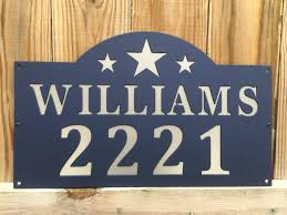 Custom Metal Signs For Home Decor by Metal Custom Address Sign Address Plaque House Sign House