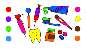 how to draw doctor medical kit for kids coloring pages medicines