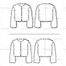 women u0027s fur chubby cropped jacket fashion flat template