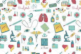 pattern illustration tumblr colored hand draw medicine pattern patterns creative market