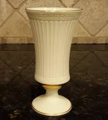 Lenox Christmas Vase Vintage Lenox Vase Grecian Collection Ivory Porcelain With Gold