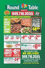 Round Table Pizza Buffet Hours by Dining All Cities