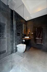 Gray And Black Bathroom Ideas by Best 10 Hexagon Tile Bathroom Ideas On Pinterest Shower White