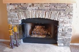 creative glass rock fireplace indoor decor idea stunning gallery