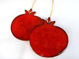 pomegranate ornaments gift tag on luulla