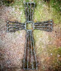 diy barbed wire cross salvage and mister