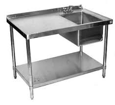 prep table with sink stainless table with sink on right 24 48 ultimate restaurant