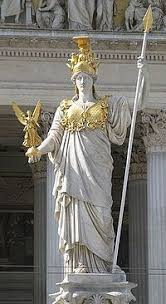 statue with greece athens the statue of athena greece athens