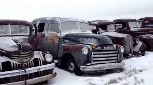 Old Ford Truck Graveyard - classic car trucks old time junkyard rat rod or restorer dream