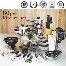 black friday pots and pans set discounts price 80 piece kitchen starter set wslkbk0v black