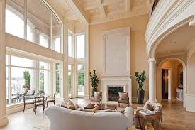 Decorating Ideas For High Ceiling Living Rooms Outstanding Ideas For Decorating Living Room With High Ceiling