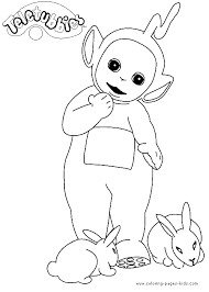 teletubbies color coloring pages kids cartoon