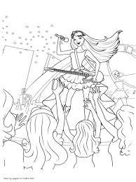 barbie princess popstar coloring