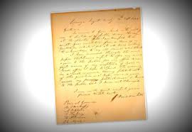 historic letter heads u0027home u0027 to the alamo kut