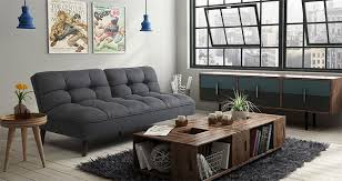 dhp tufted grey linen futon 3 key features