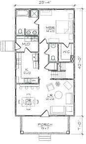 Free House Plans For Small Houses Small House Floor Plan With Open Planning Vaulted Ceiling Three
