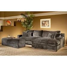 sofa with wide chaise gray velvet sectional sleeper couch with extra wide chaise lounge