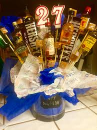 liquor gift baskets gift basket for someone s birthday using foam