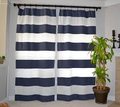 Blue And White Window Curtains Curtains Curtains Striped Stripe Curtain Panels Vertical