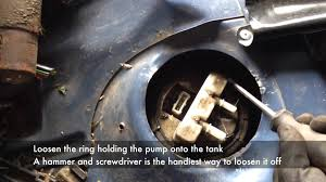 hdi in tank fuel pump removal youtube