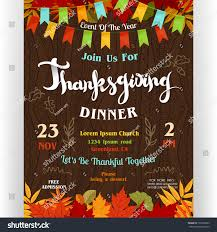 thanksgiving luncheon flyer templates happy payment receipt