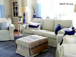 ikea slipcovered sofa reviews furniture get a modernized look for your ikea ektorp slipcover