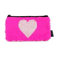 pencil pouch fashion sequin heart pencil pouch chicky swag