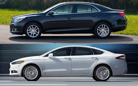 hyundai genesis vs ford fusion blue oval vs bowtie 2013 fusion and 2013 malibu by the specs