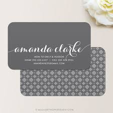 Business Cards Interior Design Flowing Script Business Card Calling Card Mommy Card Contact