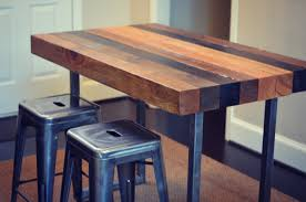 wood counter height table multi stained counter height table