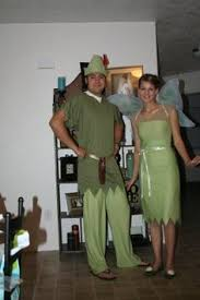Peter Pan Halloween Costume Male Homemade Halloween Peter Pan Tinkerbell Couples Costume