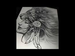 best black and white lions tattoos youtube