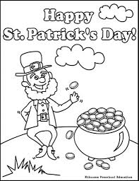 saint patrick day with printable st patricks coloring pages for