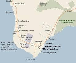 map kona usa a guide to south hawaii