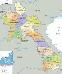 Political Map Of South Asia by Detailed Clear Large Map Of Laos Ezilon Maps