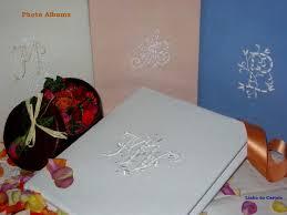 Monogrammed Photo Album Lin De Château Custom Gift Linedes Cadeaux Brodes Personnalises