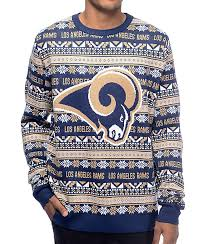 nfl sweaters nfl forever collectibles la rams aztec sweater zumiez