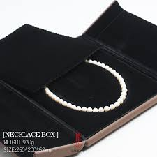 pearl necklace box images Buy high quality blown and red color velvet set jpg
