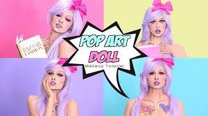 Halloween Barbie Makeup by Pop Art Doll Makeup Tutorial Youtube