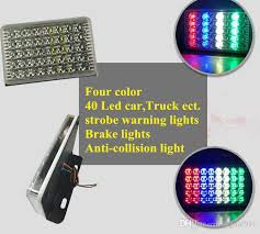 warning lights for sale 40 led four color roadway safety car strobe anti collision warning