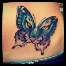 butterfly with tiger ink me tiger