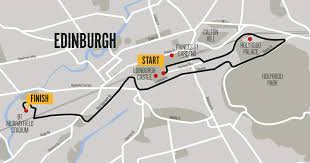 Map My Route Running by Men U0027s 10k Edinburgh