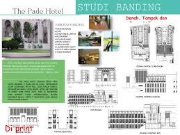 layout denah cafe perancangan hotel bintang 4
