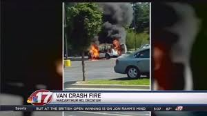 police van catches fire person custody wandtv