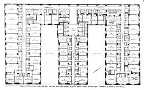 Hotel Suite Floor Plan File William Penn Hotel Typical Floor Plan Jpg Wikimedia Commons