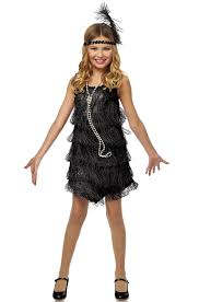 kids swat halloween costum black flapper child costume purecostumes com