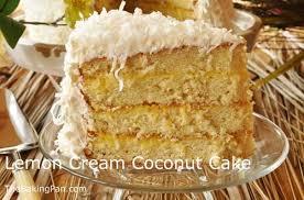Coconut Cake Recipe Lemon Cream Coconut Cake Recipe Thebakingpan Com