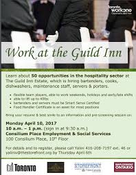 resume for bartender position available flyers the guild park hiring is about to begin for about 50 facebook